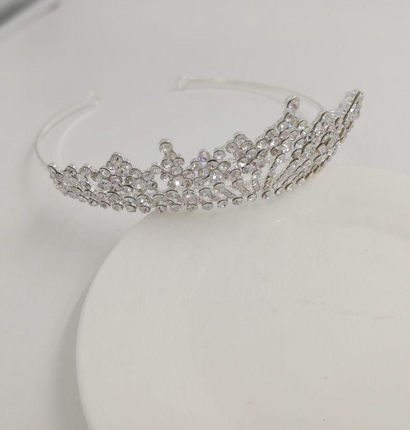 Marca di modo Multi cristallo fasce Donna Strass hairbands gioielli capelli 2017 accessori argento diademi dei capelli Wedding Bijoux nuziale