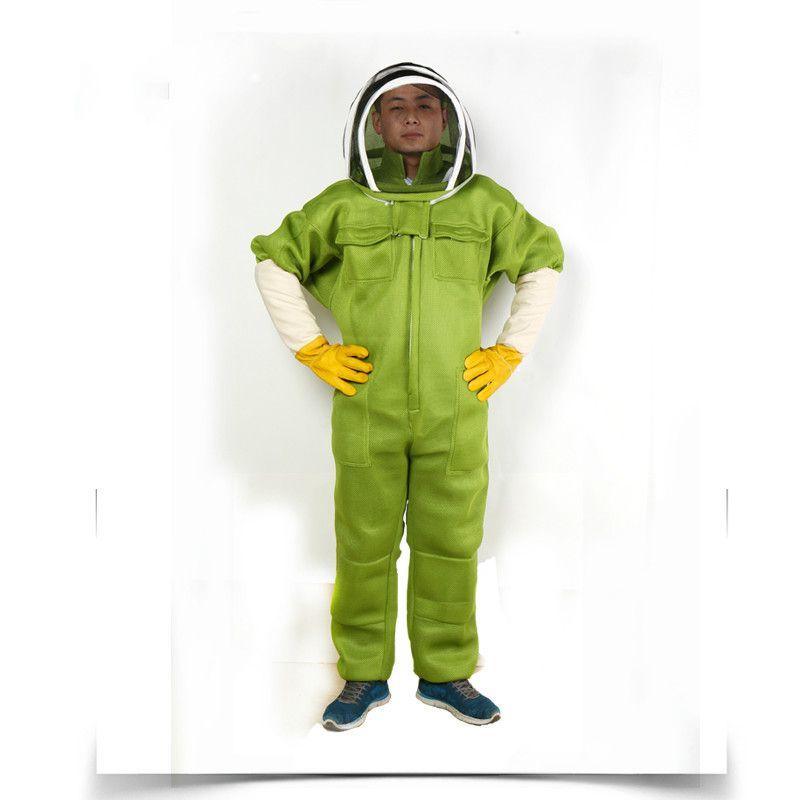 Bee desgaste ropa de protección con la ropa de todo el cuerpo de protección, engrosamiento y transpirable desgaste contra abeja ropa de protección
