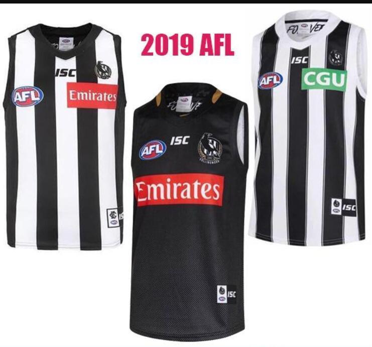 2019 Collingwood Magpies Vest Jersey Eddie Betts 300th ärmel Collingwood Magpies Australian Rules Football AFL Trikots heißen Verkauf Shirts
