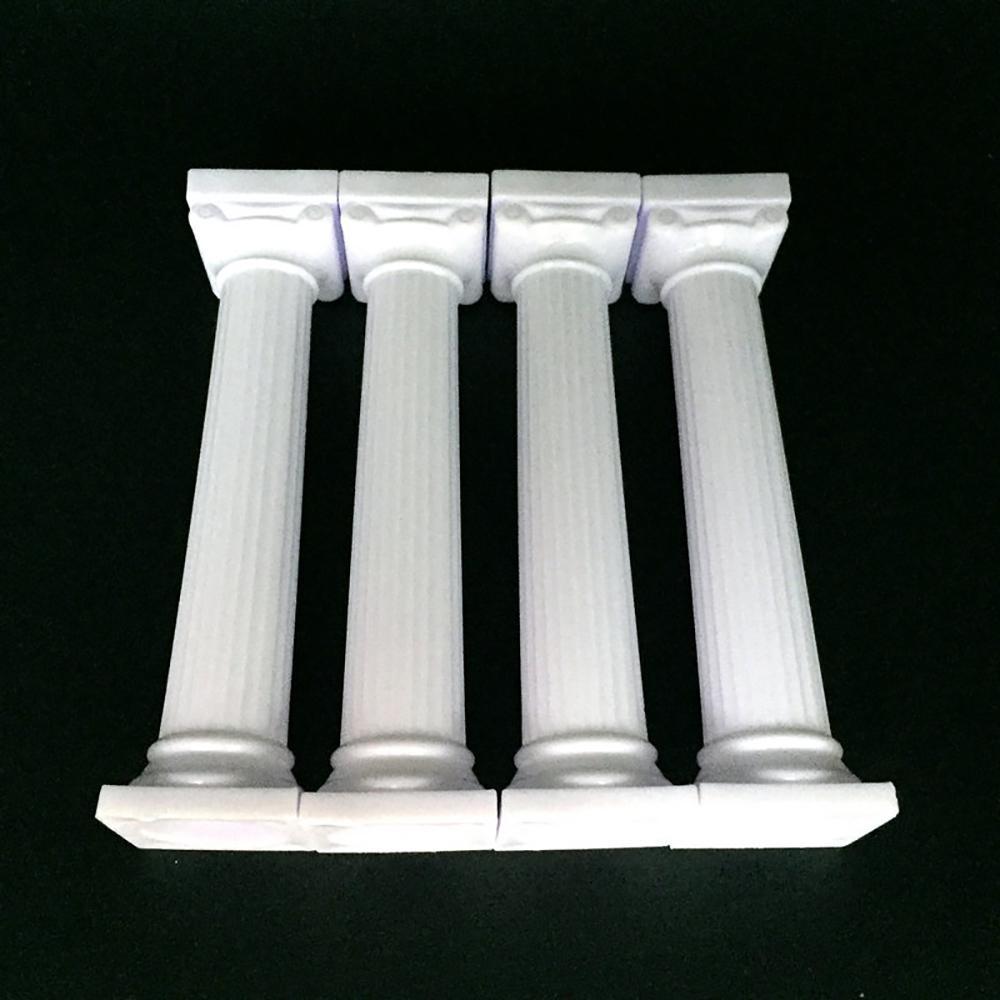 Pilastri nuovo 4pcs Wedding Cake Stand torta che decora gli attrezzi Sovrapposizione romana Supporto Colonna stand Decor 7,5 centimetri 12,5 centimetri 17 centimetri