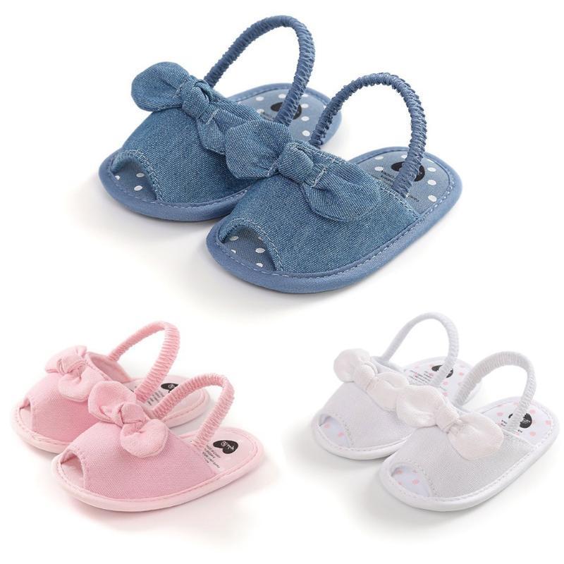2020 First Walkers Sandals Summer Solid Baby Comfort Sandals Infant Toddler Crib Shoes Soft Sandalia Infantil Girl Boy Moccasins