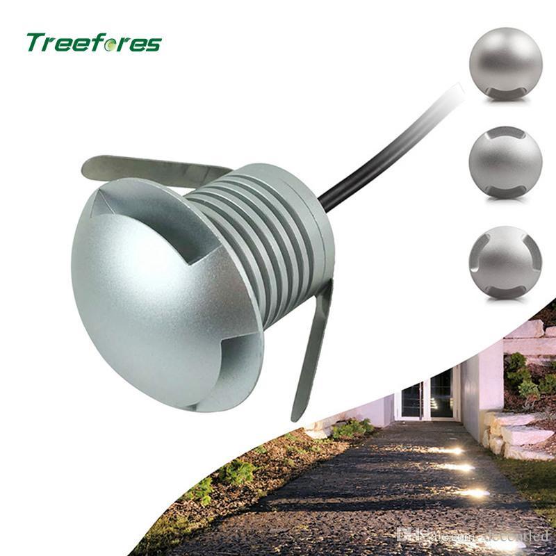 IP67 3W LED impermeable Buried Light Path lámpara de tierra al aire libre Camino Decking del jardín lámparas subterráneos DC12V soporte de voltaje de 24V