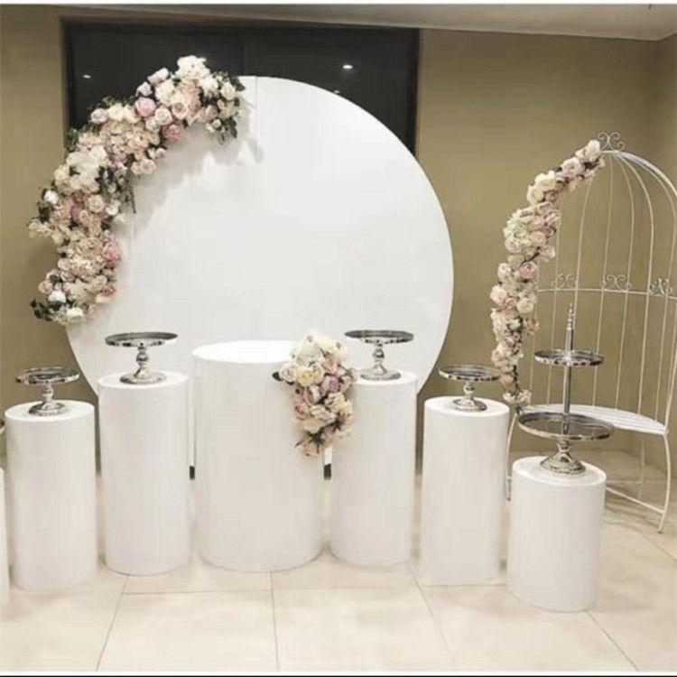 Grande evento de ferro círculos de pé para o Aniversário Do Casamento do bebê chuveiro grandes arcos backdrops decoração rodada rack para acolher flores de balão de palco