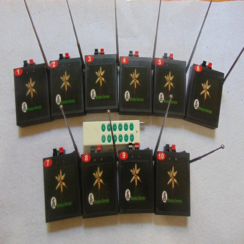 10 Cues digitale Fern 2020 sma Feuerwerk Zündung-System Beruf Ausrüstung Hochzeit Kupferdraht connect gelb Draht Partei Wireless-Schalter