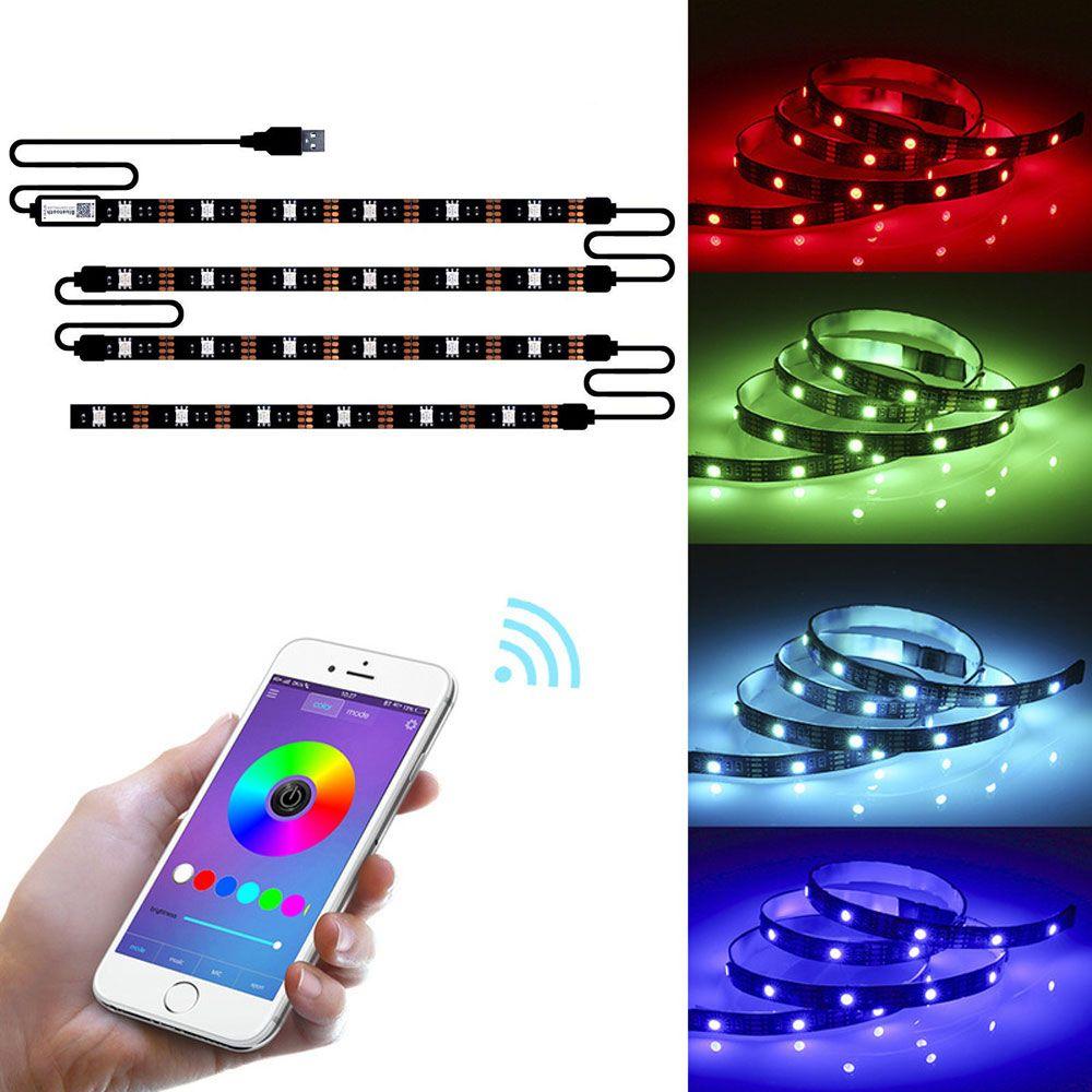 USB 블루투스 제어 LED 스트립 빛 백라이트 응용 프로그램 제어 SMD5050 3M 90LED 베어 보드는 방수가되지 않습니다 10164
