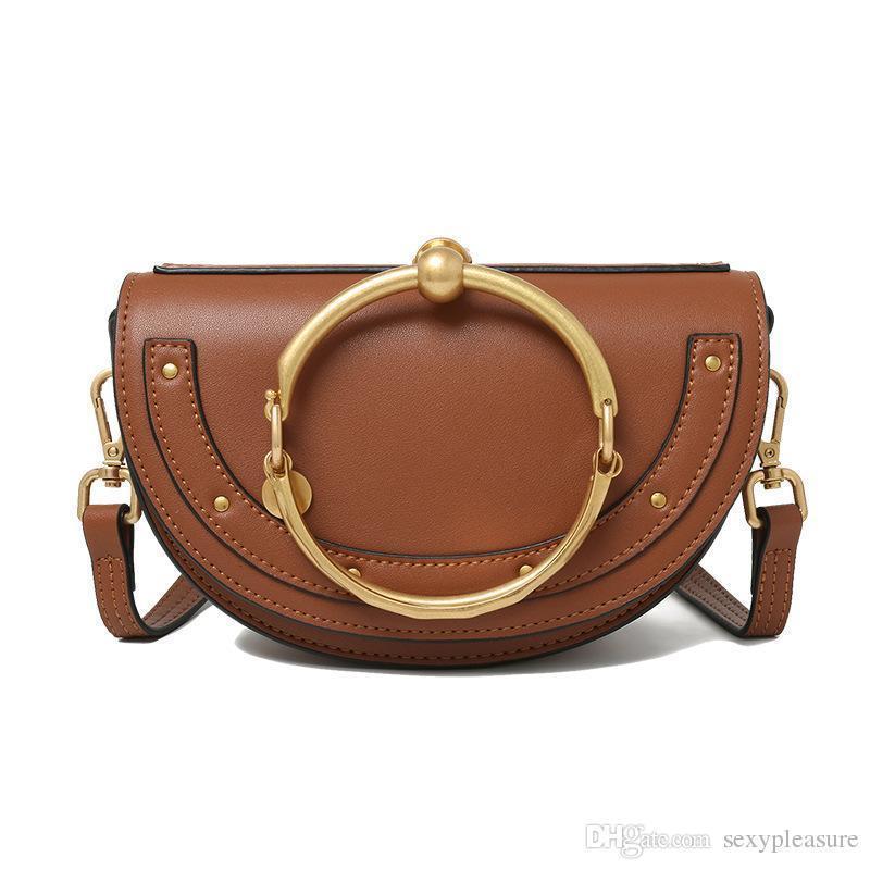 2017 vendita calda HighEnd stile Nilo Bracciale del cerchio dell'anello Hoof Strap Corssbody Flap Bag