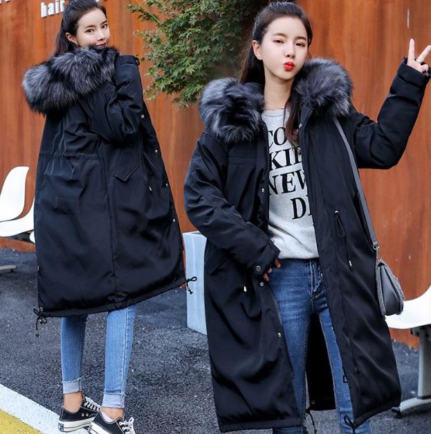2020 새로운 패션 코트 재킷, 여성 다운 자켓 겨울 여성 한국어 두꺼운 따뜻한 다운 재킷 여성의 느슨한 후드 칼라 파카