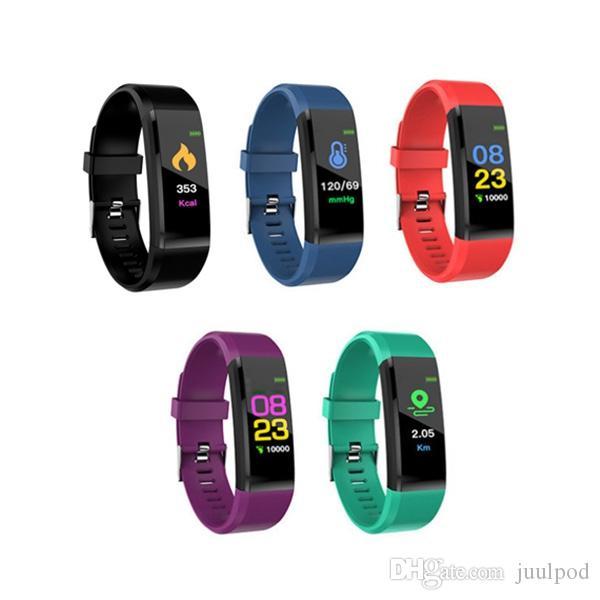 ID115 Artı Akıllı Bilezik 0.96 inç Ekran Bluetooth 4.0 Çağrı / Mesaj Hatırlatma Kalp Hızı Monitörü Fonksiyonları