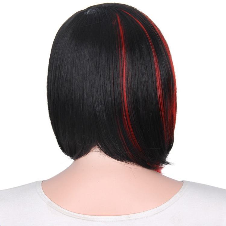 Мода Ombre косплей парики короткие боб парик для женщин с челкой прямой синтетический парик женские волосы продукты мода парик натуральный как настоящие волосы