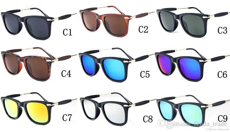 Brand men women Sunglasses High Quality Lens cycling sports glasses Big Frame Sunglasses for men women 9 colors MOQ=10