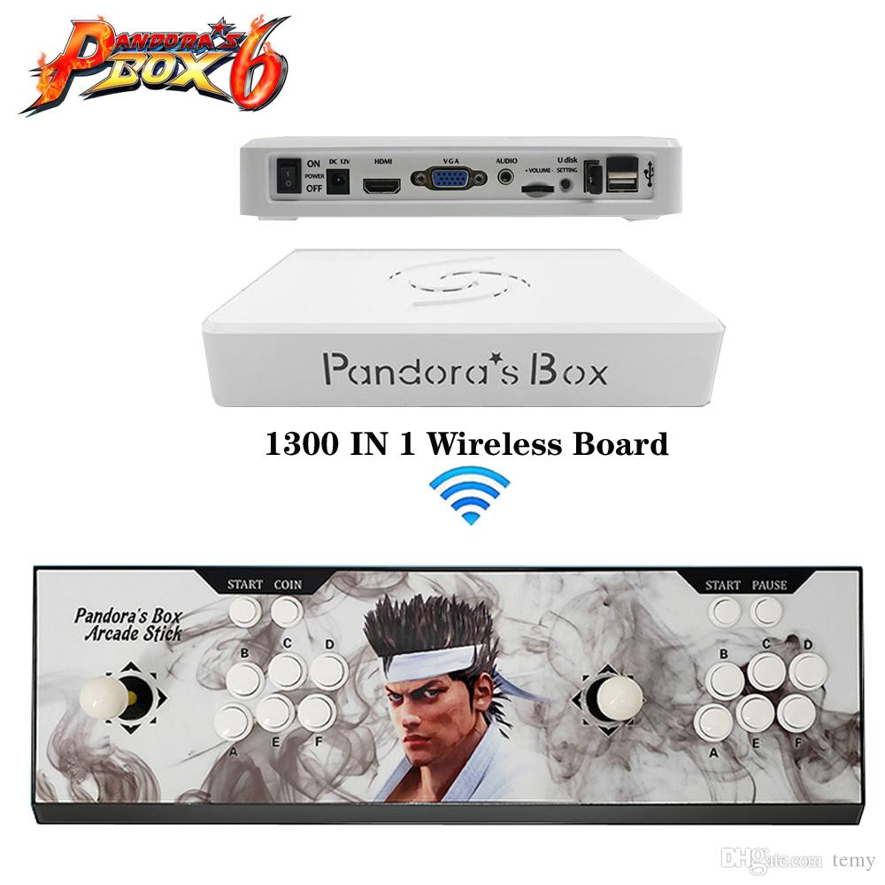 china supplier best new Pandora Box's 6 controller VGA and HIDM output with 1300 in 1 game