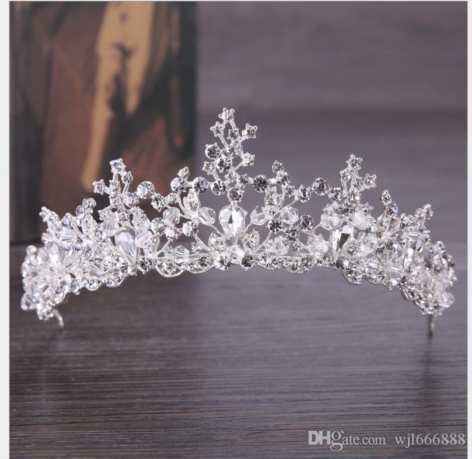 Acessórios de Headwear de fotografia de estúdio de coroa de noiva de cristal de diamante