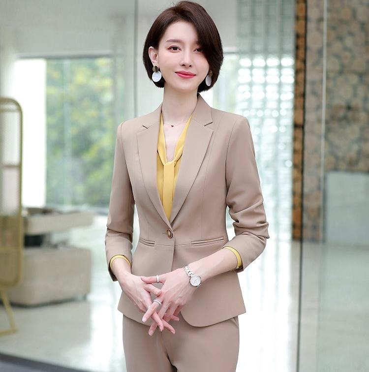 2021 Bs368 Hot Sale Womens Formal Suits Female Uniform Elegant Business Blazer And Pants Suits Women Workwear Office Suits Blazers Set From Donnatang240965 51 08 Dhgate Com