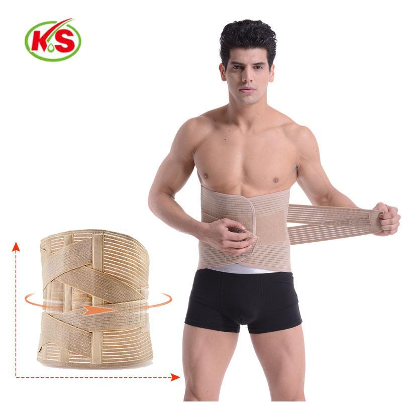 New Lumbar Waist Support Belt Lower Back Brace Support Corset Belt Waist Trainer Slim for Sports Pain Relief Size XXL
