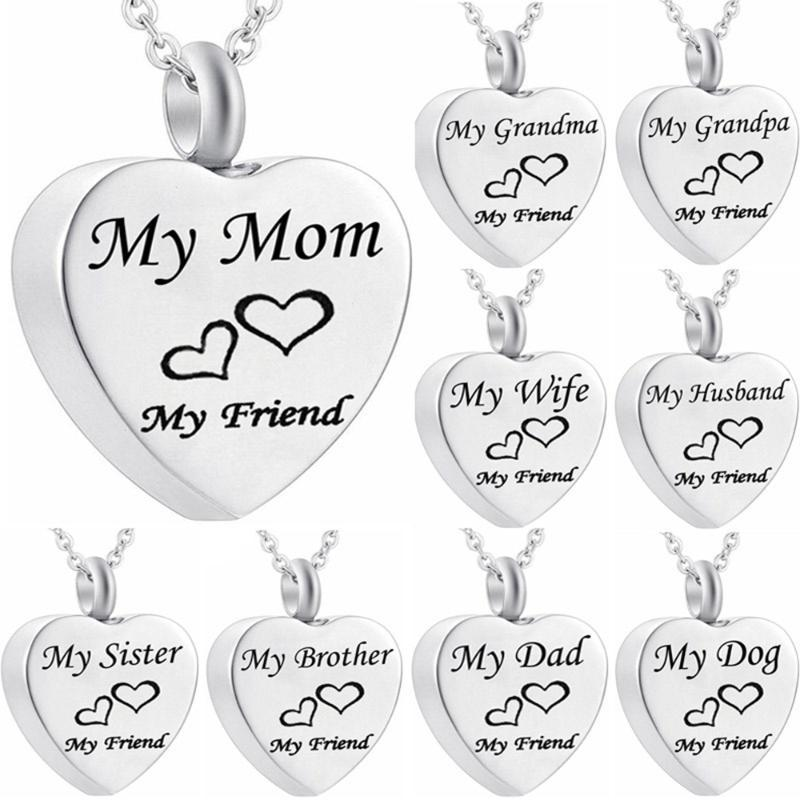 MJARTORIA Openable Pet Пепел сердца кулон ожерелье для семьи друга Женщины Romantic Love Heart Jewery Подарок 20 * 25мм партия