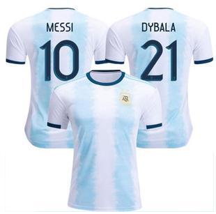 2019 Argentina Camisetas de fútbol Argentina Camiseta de fútbol local 19 20 10 MESSI # 9 AGUERO # 21 DYBALA # 22 LAUTARO uniforme de fútbol visitante talla S-2XL