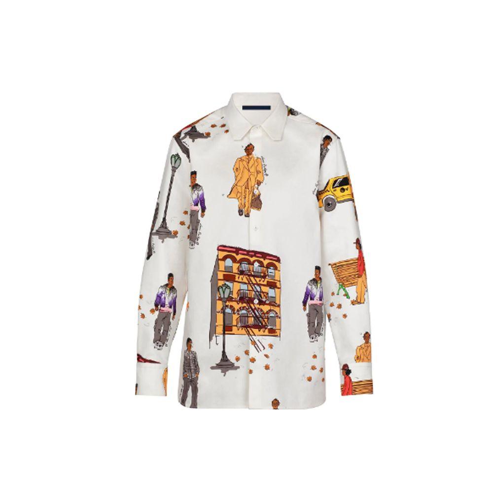 2019 Yeni Yürüyüşe DNA Gömlek Erkek Tasarımcı Gömlek Düzenli Fit Gömlek Uzun Kollu Erkek Iş Gömlek Casual Paris Baskı Marka Giysi Gömlek