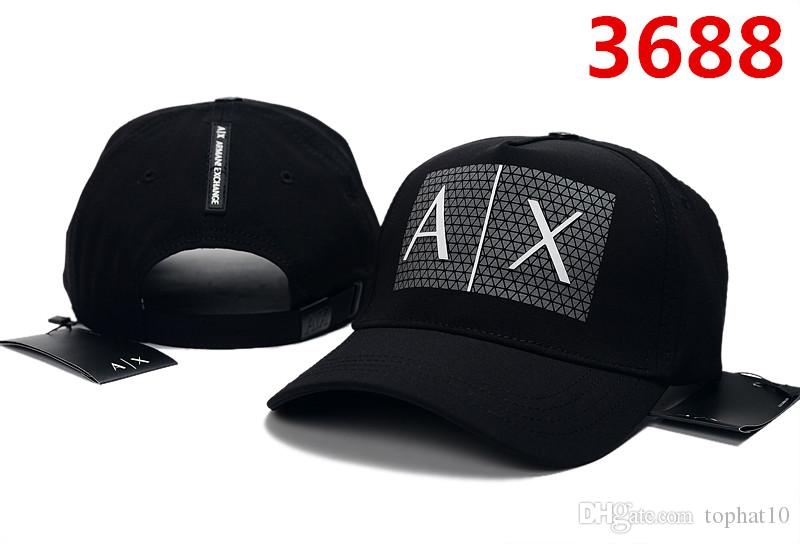 Wholesale Free Shipping 2018 New AX hat women embroidery Adjustable Baseball Cap Wholesale retail Hip hop