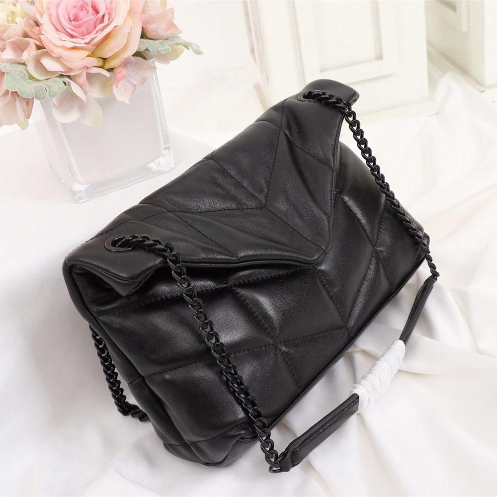 Классические дизайнерские сумки Y лоскут наплечные сумки новая мода натуральная кожа женская сумка посыльного цепи черный дизайнер Crossbody сумка
