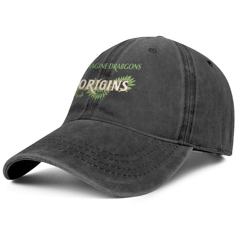 Origini Imagine Dragons per gli uomini e le donne Trucker Cap denim disegno di progettazione personalizzata classicblank moda di baseball bestcustom cappelli Nuovo CD