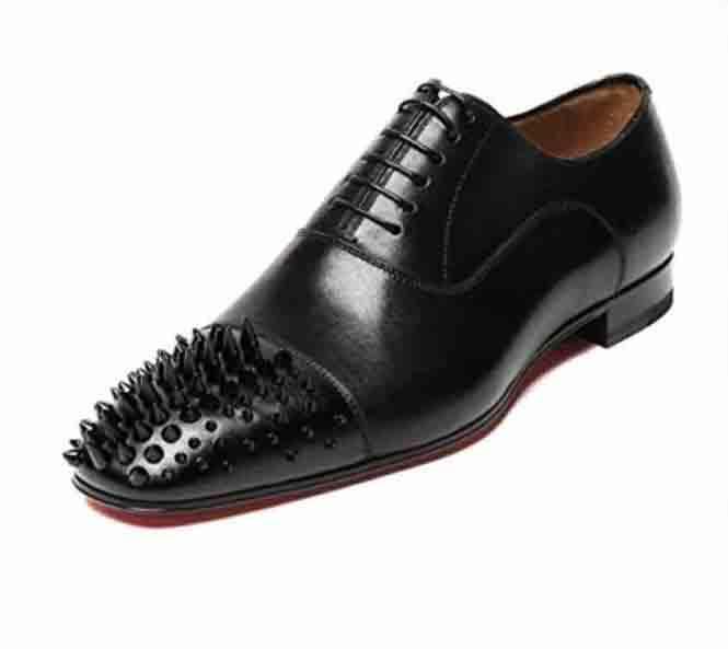 أسود براءة اختراع الأحمر متعطل أسفل أحذية للرجال والنساء زلة أحذية على أفضل أوكسفورد الأعمال فاخرة أحذية المسامير حفل زفاف شقة اللباس 35-46