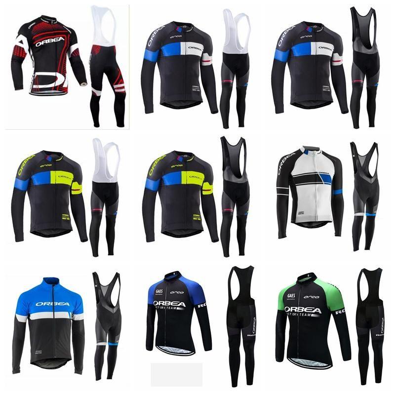 2019 Hommes manches longues hommes ORBEA Maillot cyclisme Set Respirant Vtt Vélo Maillot Ropa Ciclismo extérieur vélo de course Vêtements K010823