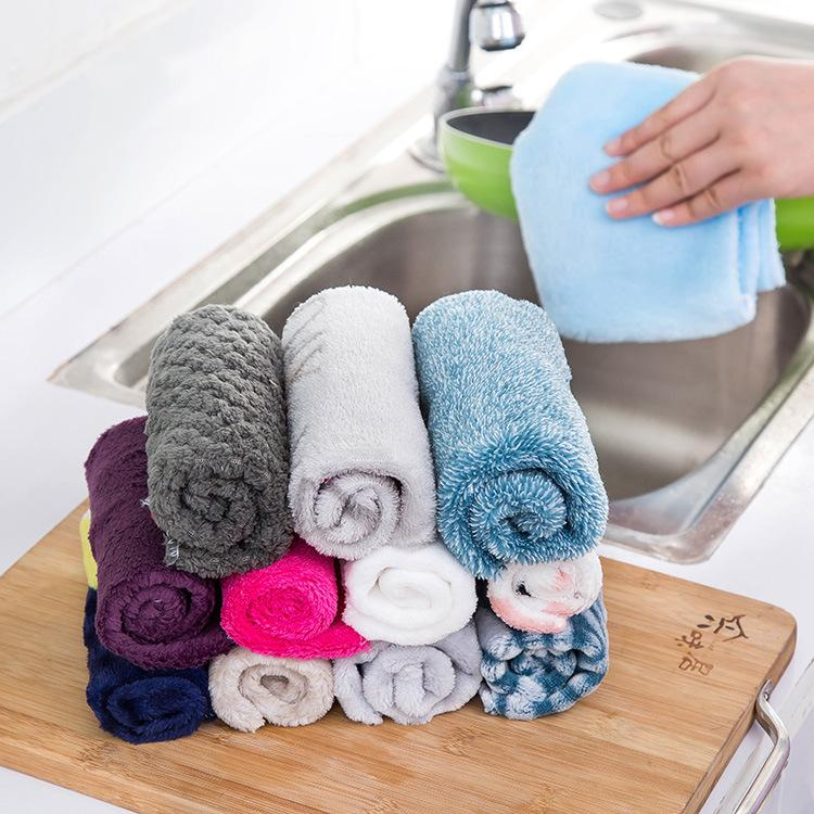 Car Cleaning Cloth Bamboo Fiber dish Cloths Kitchen Cleaner Wipping Washing Rags Bathroom Dust Hand Dryer Towel