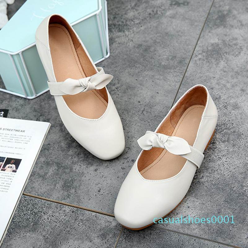 Donne appartamenti primavera estate singolo scarpe oxford 2020 genuino piatte in pelle scarpe arco di balletto per la donna francesine SlipON 01c