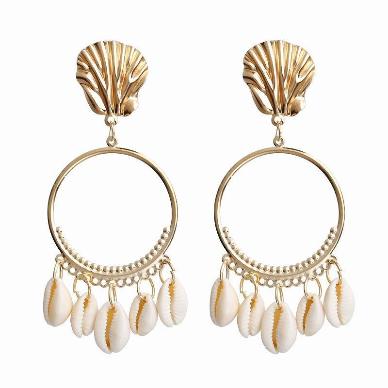 Hot Women Summer Sea Shell Pendant Dangle Drop Earrings Ear Satus Jewelry Gift