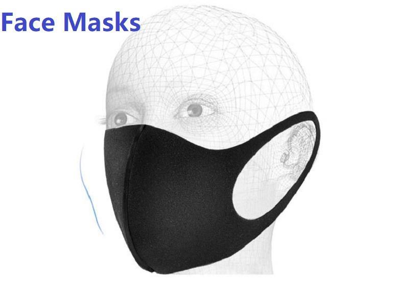 Zwart gezichtsmasker Cool comfortabel om herbruikbaar wasbaar gezicht masker mode ontwerp gezichtsmaskers voor kinderen volwassenen te dragen