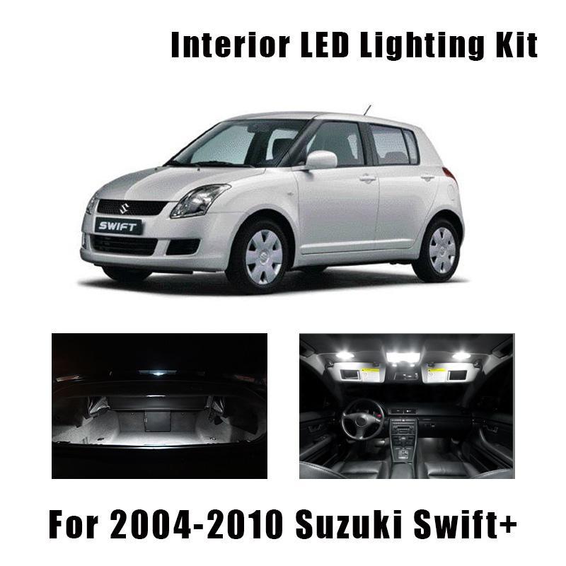 8 Birnen Super White Car Interior LED Light Kit für die Jahre 2004-2007 2008 2009 2010 Swift + Dome Trunk Cargo-Kennzeichenleuchte
