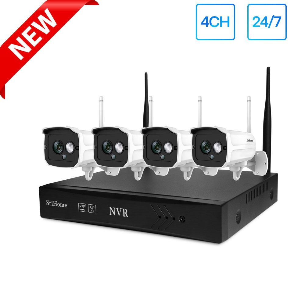 كامل 1080p HD كاميرا نظام WIFI NVR 4 WIFI كاميرات IP رصاصة في الهواء الطلق مقاوم للماء IP66 فيديو مراقبة الأمن كيت