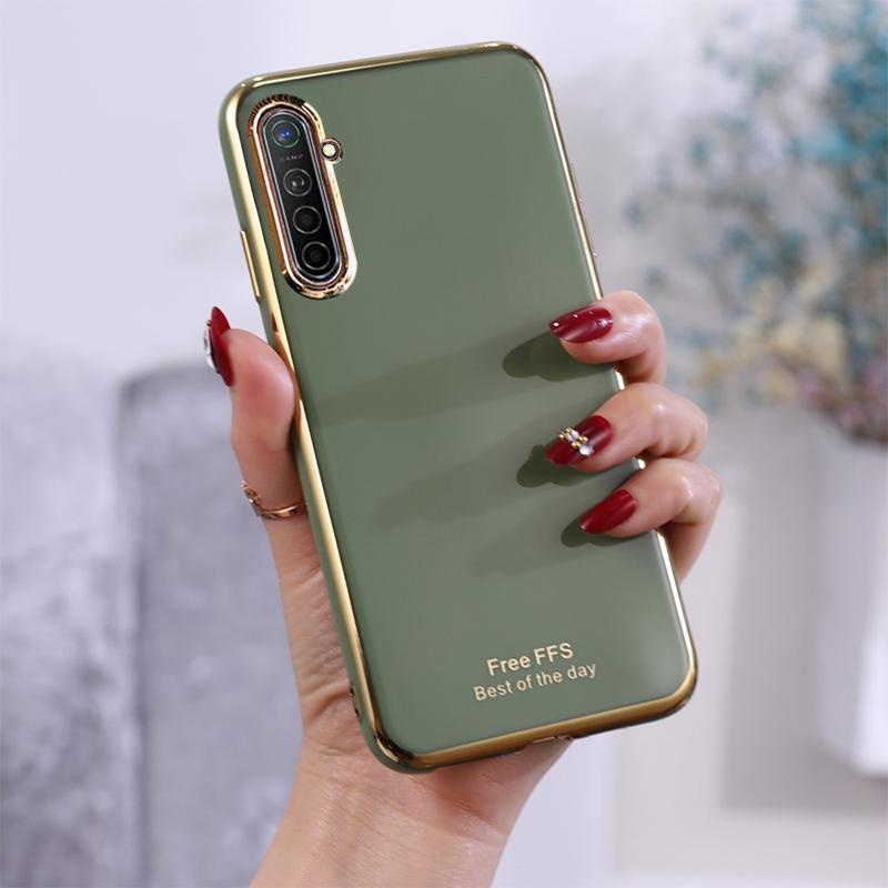For OPPO K5 6D Plating TPU Protective Case