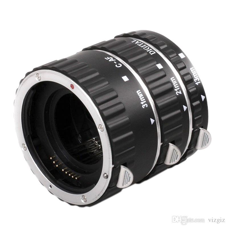 Adaptador de lente de Metal Foco Automático AF Macro Extensão Anel Adaptador de Lente Do Tubo com Saco para Canon EOS
