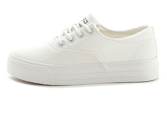 Los nuevos hombres de moda y zapatos de las mujeres zapatos ocasionales con cordones de los zapatos de lona tamaño Caminar 35-44 L05
