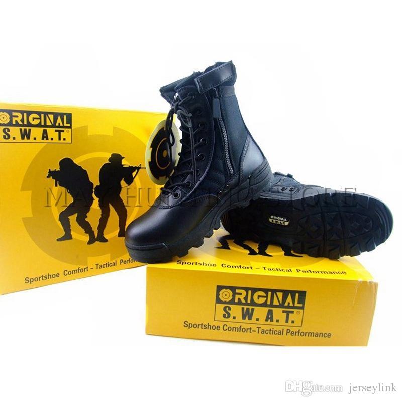 DUTOLE Tactical Boots Swat Outdoor Wandern Special Force Desert Military Enthusiasts Zipper Boots Langlebig / Tragbar / Komfortabel # 4638