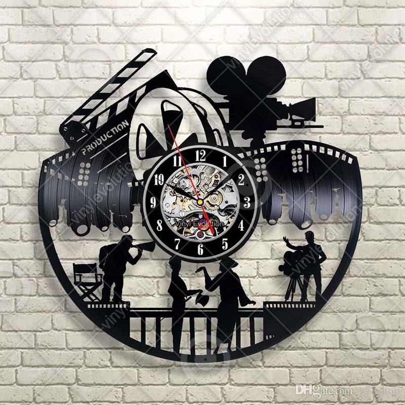 Movie Night Home Theater Wandhauptdekor handgemachte Kunst-Personality-Geschenk (Größe: 12 Zoll, Farbe: Schwarz)