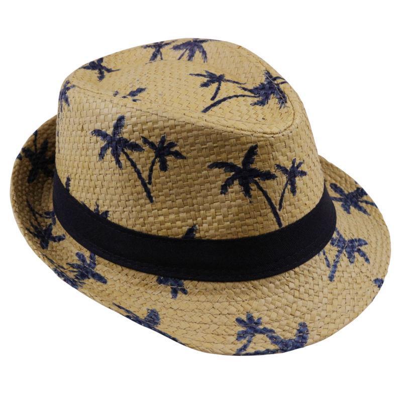 2019 sıcak satış Yaz saman Güneş şapka çocuklar Plaj Güneş şapka Fötr panama Şapka İşi oğlan kız Çocuklar için 4 renk