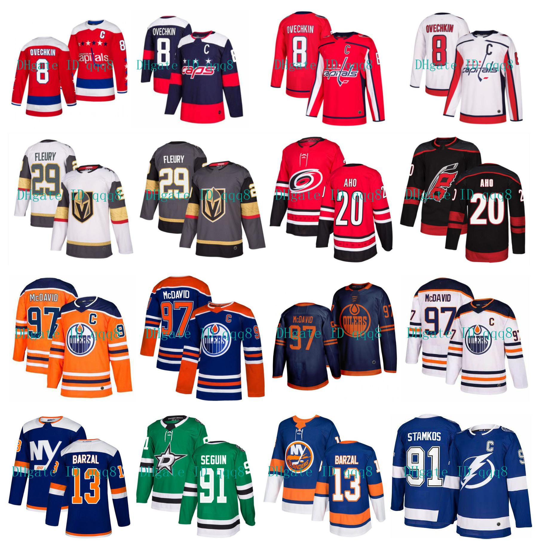 Connor McDavid Edmonton Oilers d'Alex Ovechkin des Capitals de Washington Marc-André Fleury Stamkos Mathew Barzal Hurricanes Aho NHL Hockey