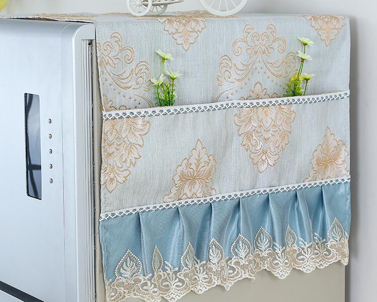 Fyjafon Buzdolabı Saklama Torbası Ev Dekorasyonu 53 * 135/70 * 170 ile Dantel Toz Kapağı Mutfak İşlemeli toz geçirmez Kapaklar