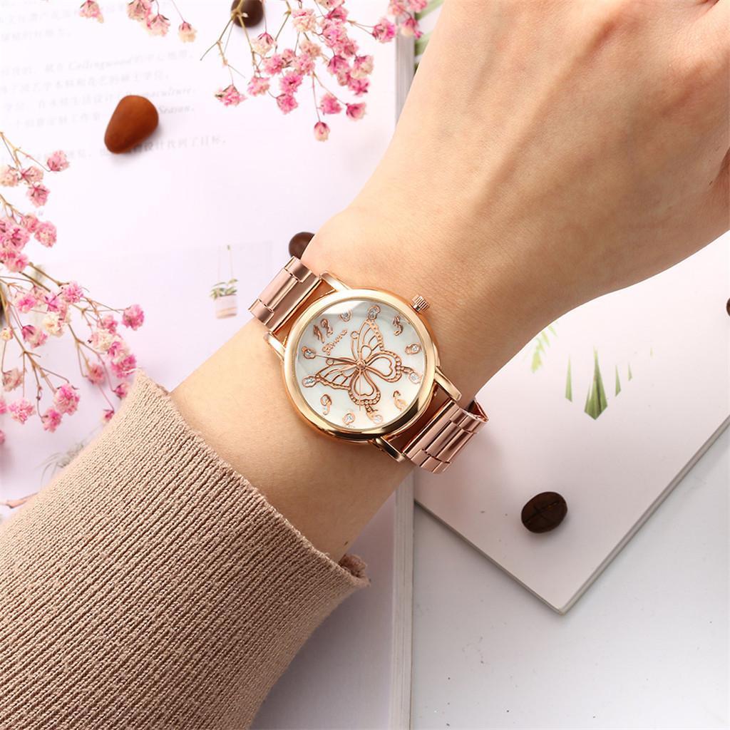 Assista Vestido Mulheres pulseira relógio New Simples Ladies Quartz Temperamento Casual Feminino Modelsmontres femmes # 10
