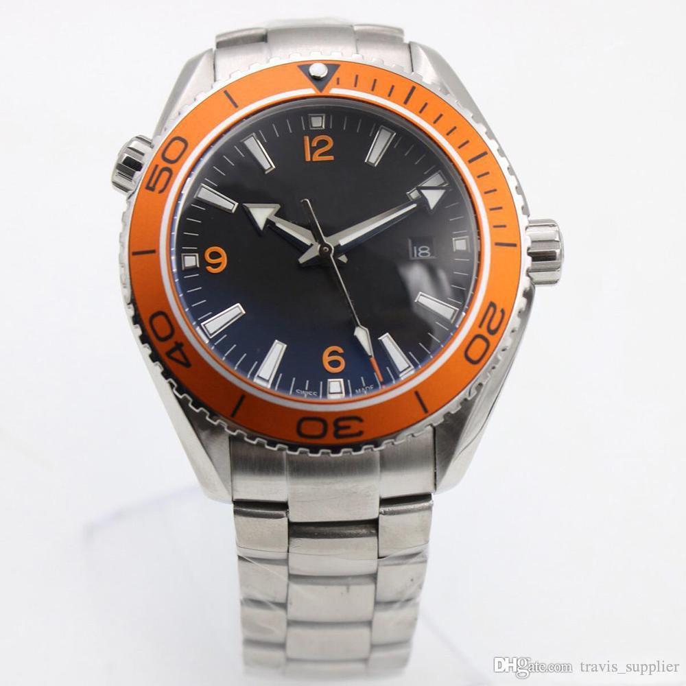 2019 горячая продажа высокое качество заводские мужские часы мастер коаксиальная серия оранжевый вращающийся керамический безель автоматические машины человек часы