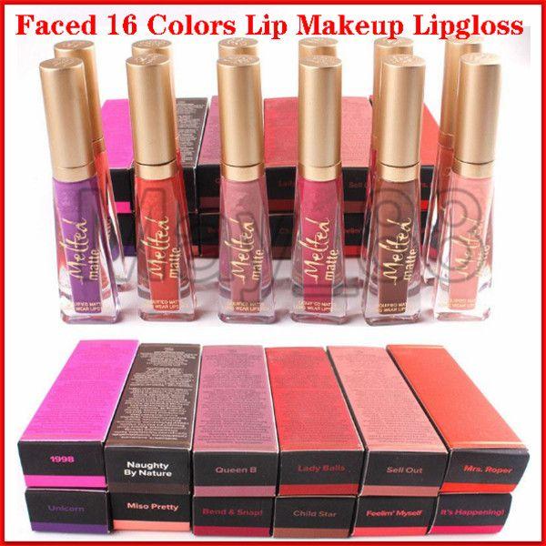 2020 Hot New Marque Melted Matte Liquid 16 couleurs rouges à lèvres à une véritable qualité liquide Lipgloss longue Porter crémeuse brillants à lèvres Maquillage Faced
