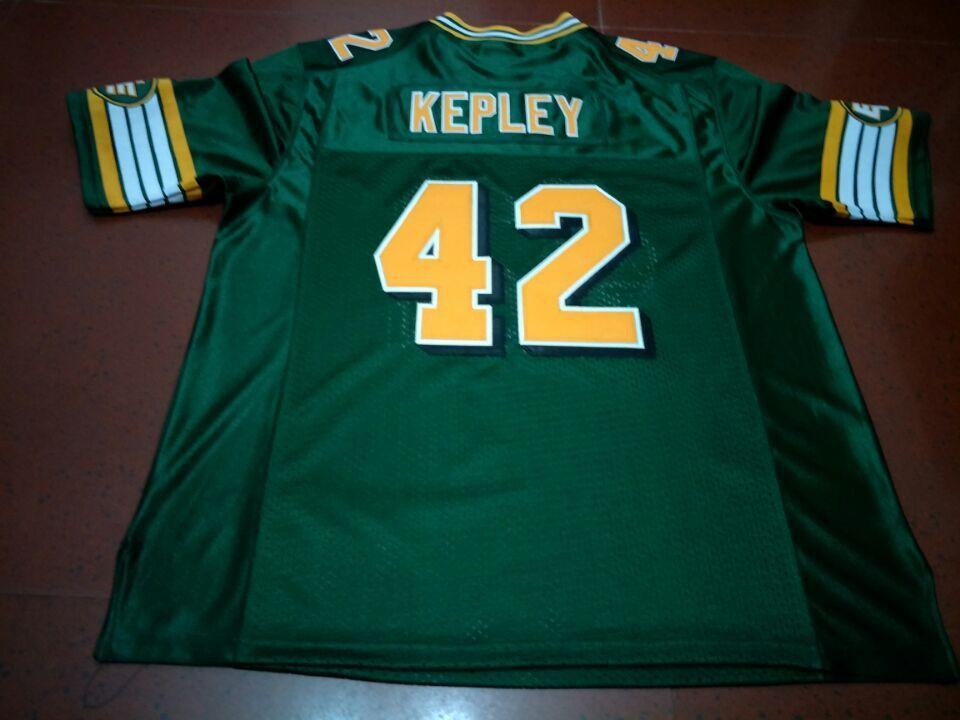 Benutzerdefinierte Männer Jugend Frauen Weinlese Edmonton Eskimos # 42 Dan Kepley Fußball-Jersey-Größe s-4XL oder benutzerdefinierten beliebigen Namen oder Nummer Jersey