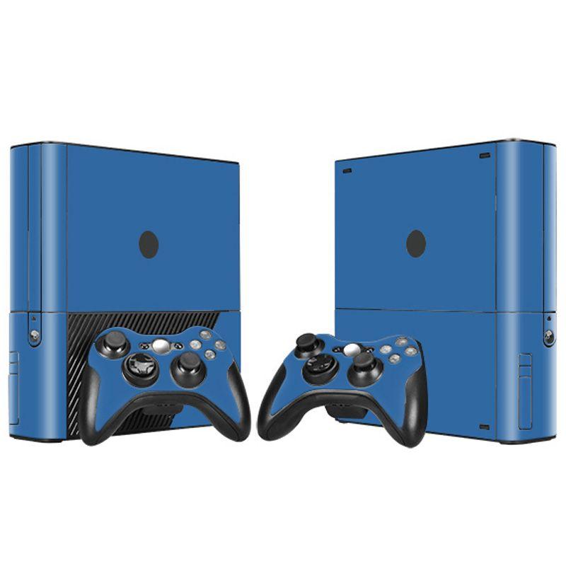 Xbox360의 E 비닐에 대한 순수한 색상 화이트 블랙 레드 블루 스킨 스티커 데칼를 들어 X 박스 360 개 E 콘솔과 컨트롤러 스킨 스티커