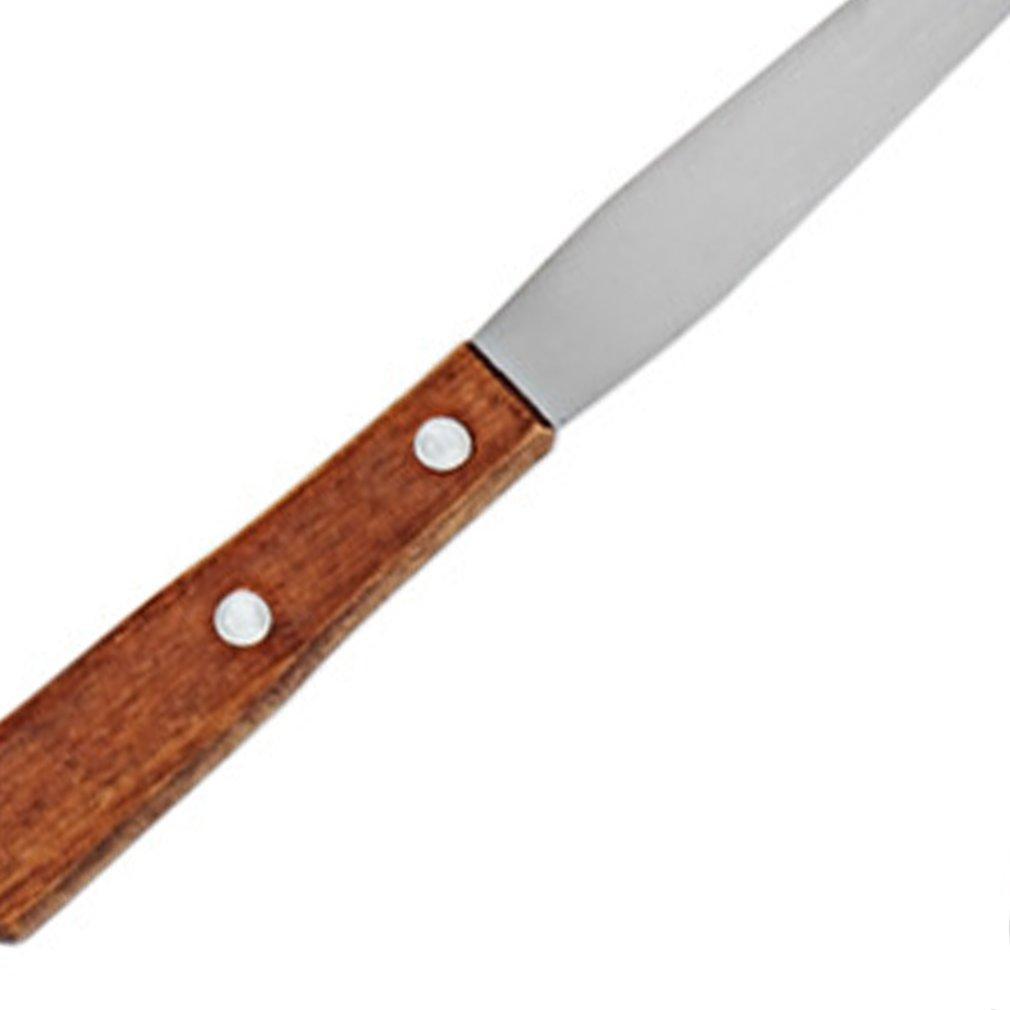 Backen-Werkzeuge 4-Zoll-Edelstahl-Creme-Kuchen Spatel Silk Squeegee Kuss Messer Release Messer Kithchen Werkzeug