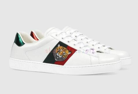2019 Luxury Designer Hommes Femmes Sneaker Chaussures Casual Low Top Italie Marque Ace Bee Stripes Chaussures de sport marche Formateurs Chaussures 07