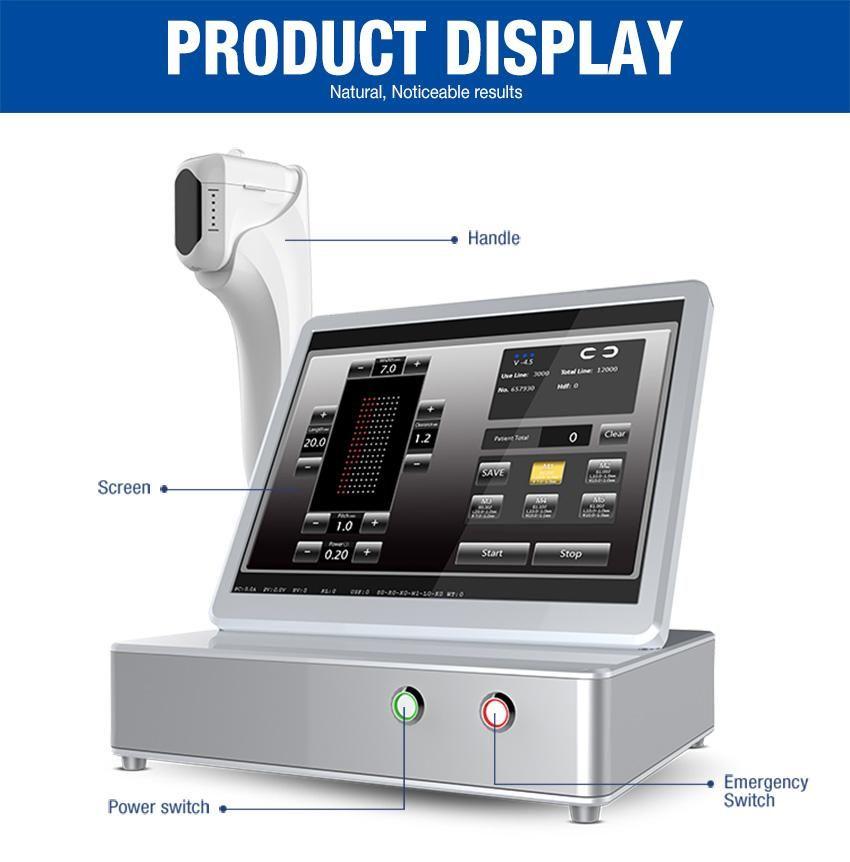 Máquina de belleza de ultrasonido enfocada de alta intensidad HIFU 3D de alta calidad Equipo de belleza de gama alta Máquina de belleza de piel con cuchillo ultrasónico