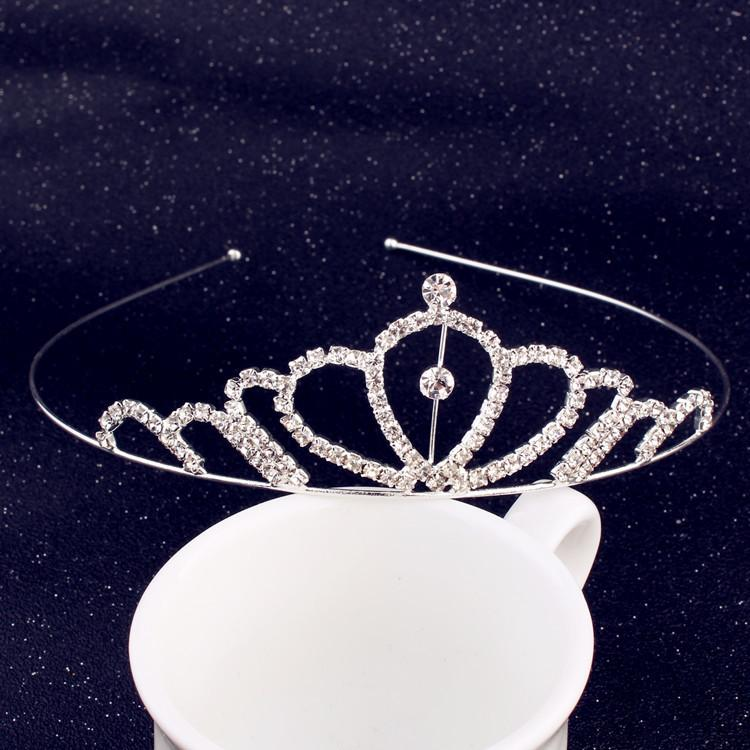 Günstige Kinder Kronen-Diamant-Hochzeit Crows Hochzeit Zubehör Brautjungfer Schmuck Accessoires Brautzusätze 10pcs / pack