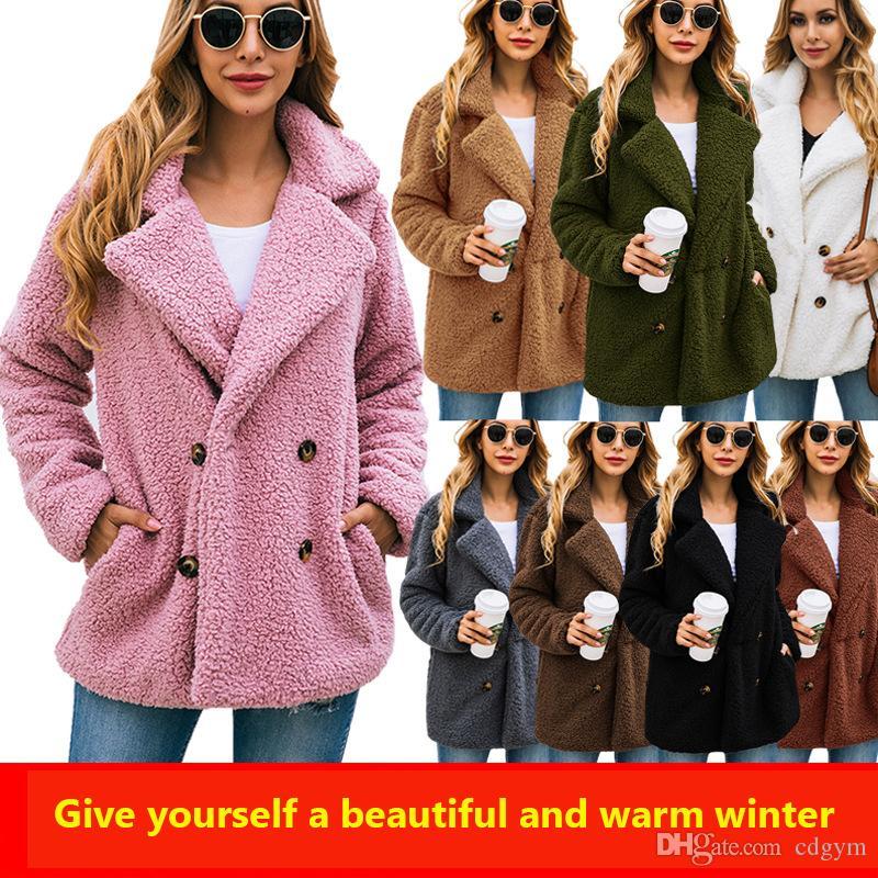 Женская Двойной Брестед ватки зимы пальто куртки с длинным рукавом Keep Warm пальто Женщина Abrigo S до 3XL 100164